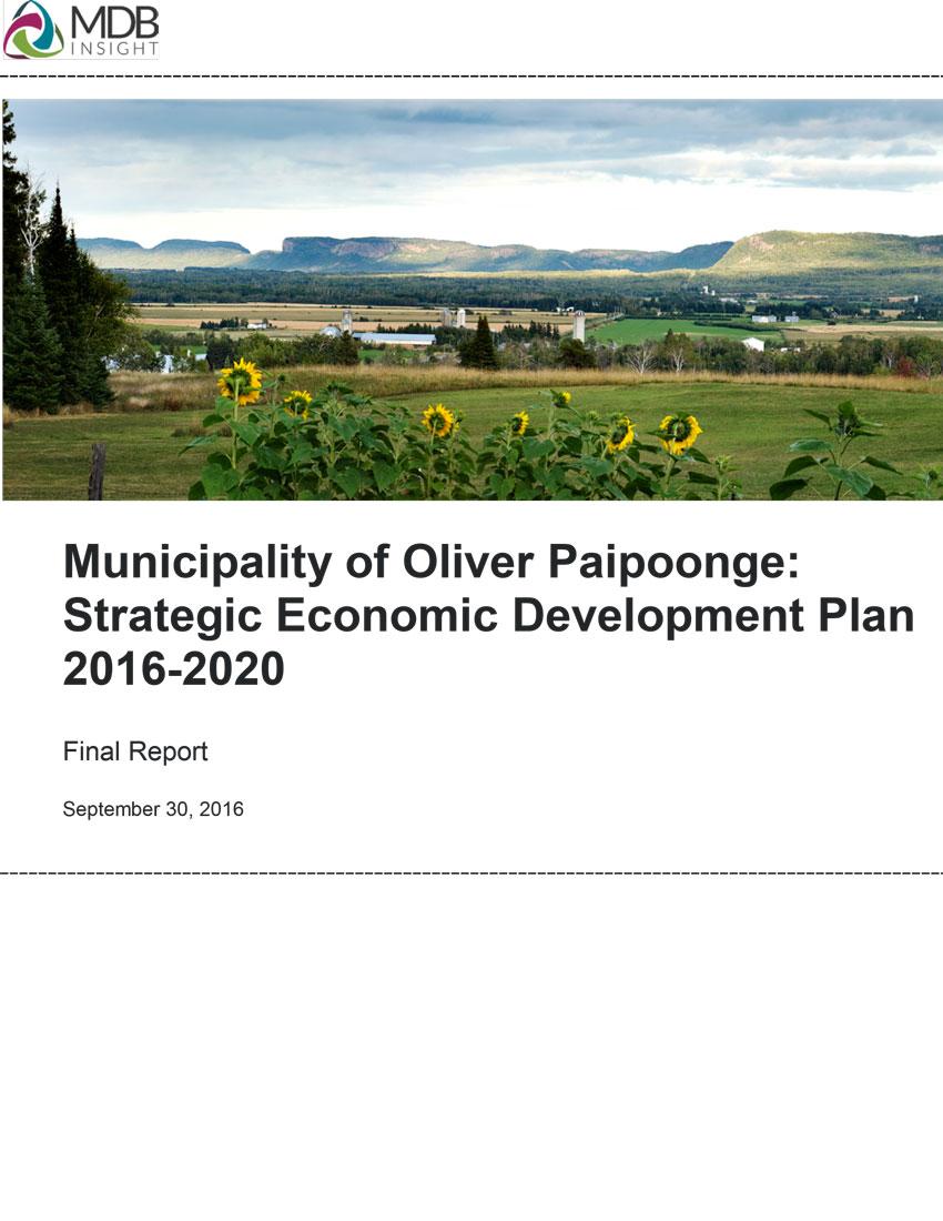 2016 Strategic Economic Development Plan